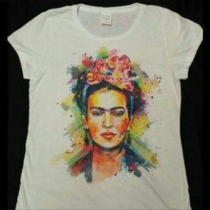 Tops - New Frida Kahlo Embellished Tee size Large